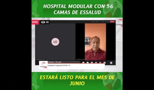Hospital modular Essalud Amazonas estará listo para el mes de junio