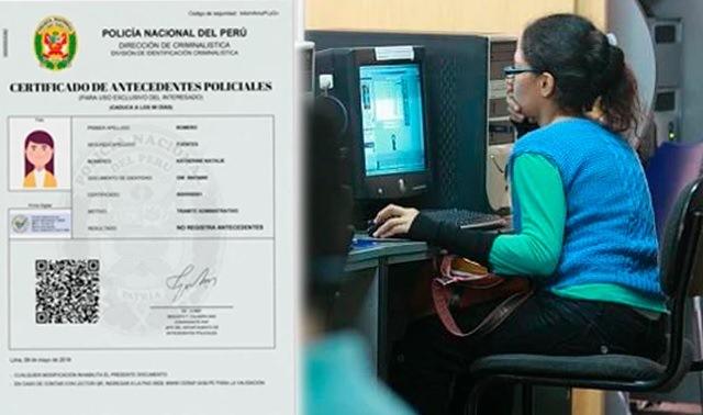 Cómo tramitar un certificado de antecedentes policiales digital en Perú