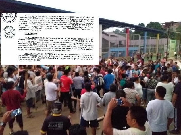 GOREA anula resoluciones que reconocían a Comunidades Nativas por carecer de sustento técnico