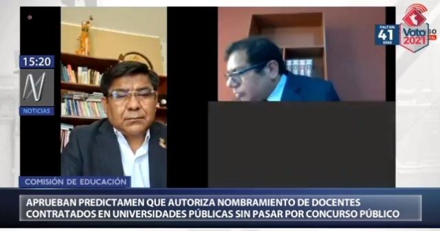 Congreso: Aprueban predictamen que autoriza nombramiento de docentes de universidades públicas sin concurso público