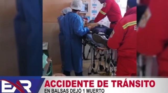 Accidente de tránsito en Balsas dejó 1 fallecido