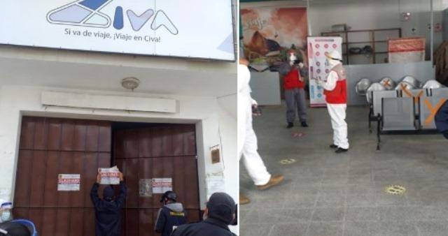 Empresas Movil Bus y transportes Civa son clausurados temporalmente en Chachapoyas