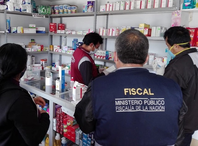 Fiscales realizaron operativos para prevenir sobrevaloración y adulteración de medicinas
