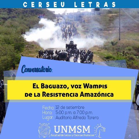 Este jueves se presenta el libro: Baguazo, voz Wampis de la resistencia amazónica