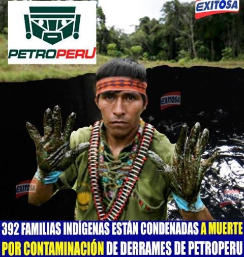 392 familias indígenas están condenadas a muerte por contaminación de derrames de Petroperu