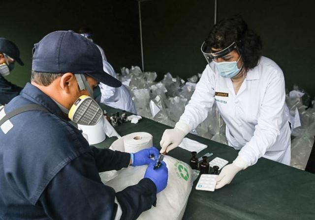 Policía Nacional destruye más de 18 toneladas de droga decomisadas en distintos operativos