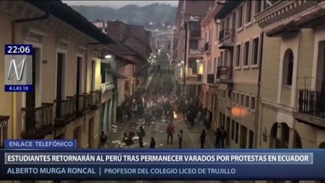 Ecuador: director de colegio señala que única forma de salir es vía un puente aéreo