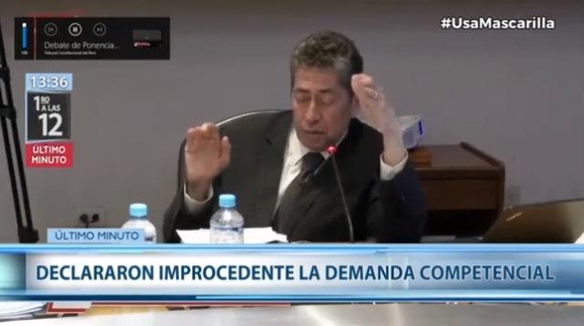 Espinosa-Saldaña: La mayoría de magistrados señaló que ya no había qué discutir porque el caso concreto ya fue resuelto