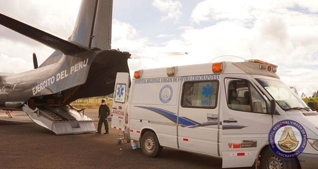 Convenio entre MININTER y SALUDPOL agilizo traslado de efectivo herido en avión de la PNP