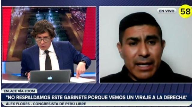 Álex Flores sobre Luis Barranzuela: La bancada de Perú Libre no lo ha propuesto