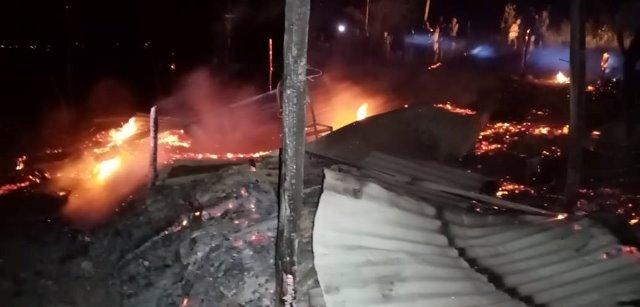 Bomberos de Utcubamba controlan incendio a pesar de sus limitaciones logísticas
