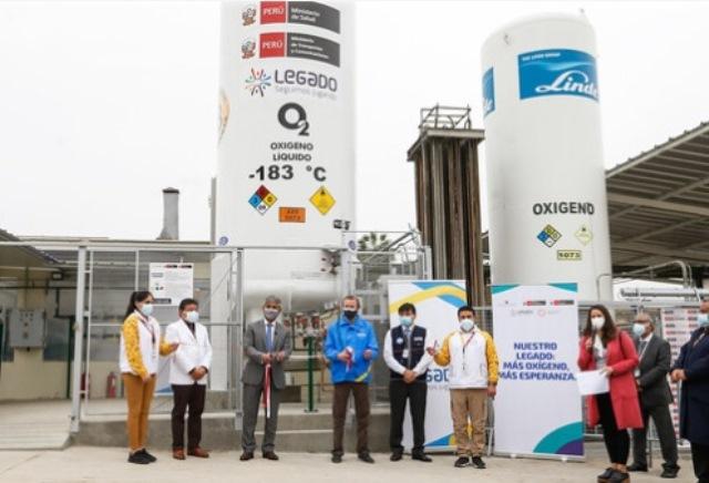 Hospital Sergio Bernales inaugura isotanque criogénico de oxígeno ante eventual tercera ola de COVID-19