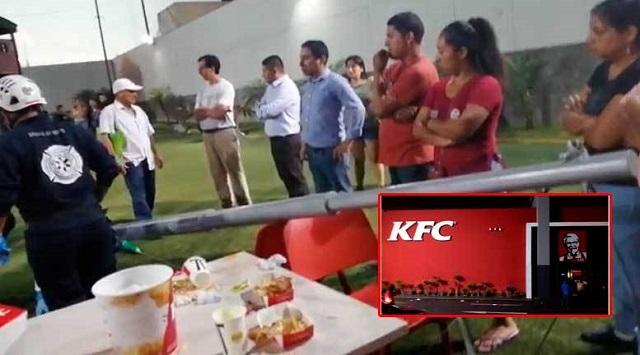 Surco: Estructura metálica se desploma y deja una persona herida en local de KFC