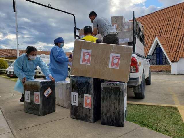 Primer cargamento de insumos comprados por el GOREA ya está en Amazonas