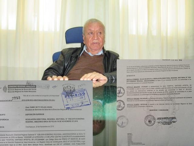 Milecio Vallejos habla claro y directo como gobernador encargado en Amazonas