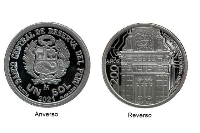 BCR lanza moneda de plata alusiva a los 200 años de la Biblioteca Nacional del Perú