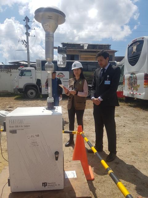 Realizan monitoreo en el hospital regional Virgen de Fátima para Certificación Ambiental