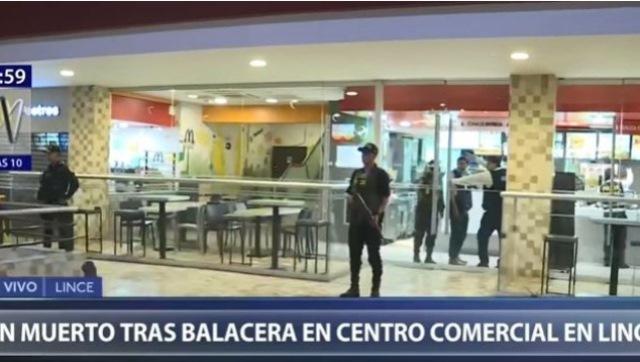 Lince: asesinan a hombre dentro de local de comida rápida en centro comercial Risso