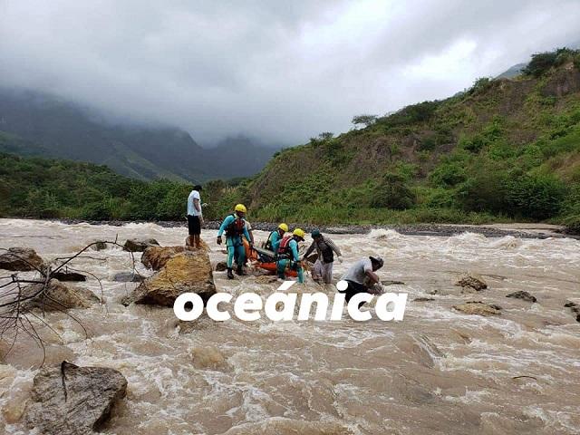 Brigada de Rescate de Alta Montaña de Chiclayo, lograron recuperar el cuerpo de agricultor que cayó de huaro a las aguas del río Utcubamba