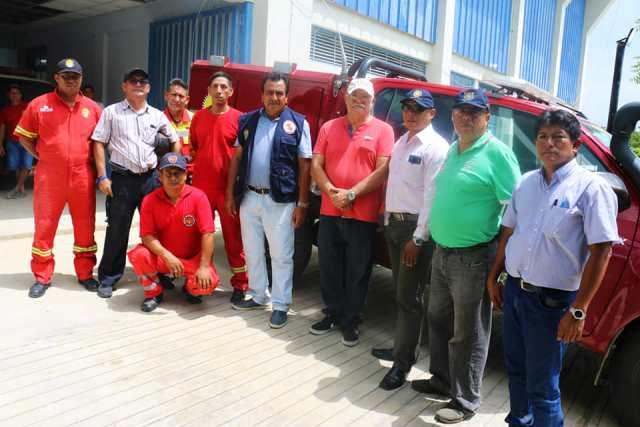 Se gestionará apoyo para la Compañía de Bomberos de Utcubamba