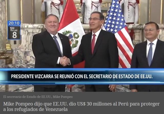 """EE.UU. felicita a Perú por su """"generosidad"""" con los venezolanos"""