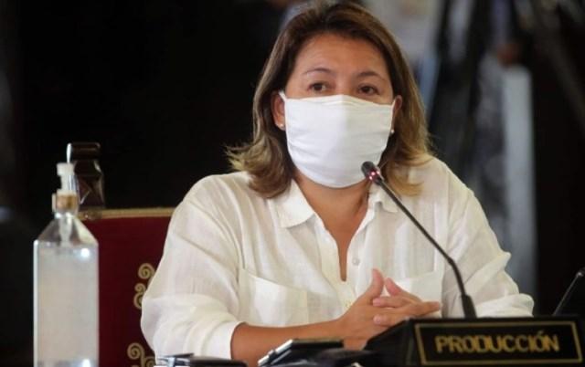Rocío Barrios, ministra de la Producción, dio positivo a prueba de la COVID-19