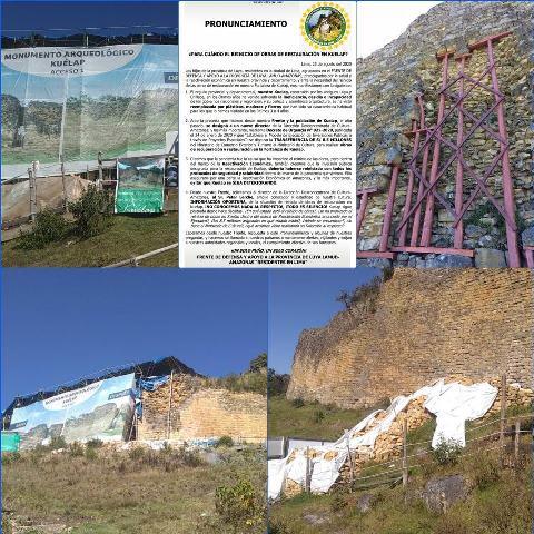 Para cuándo el reinicio de obras de restauración en Kuelap?