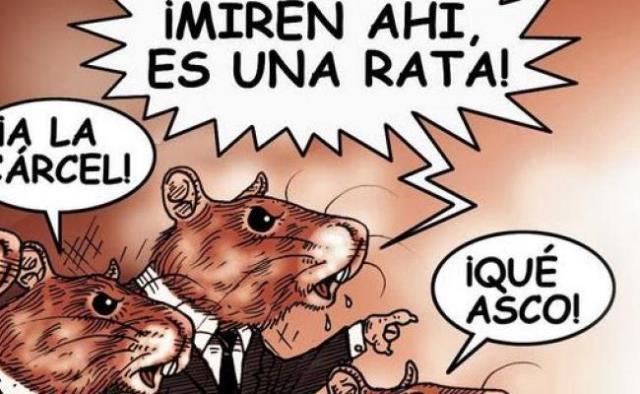 ¡Fuera ratas de la política!