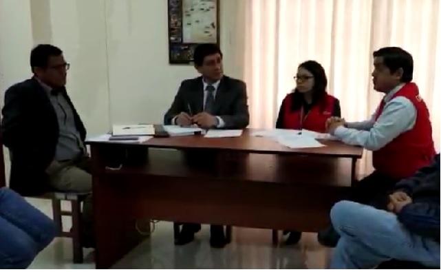 Gerente Regional de Control de Amazonas, Roy Salazar Caballero, se reúne con representantes del Gobierno Regional y Proamazonas