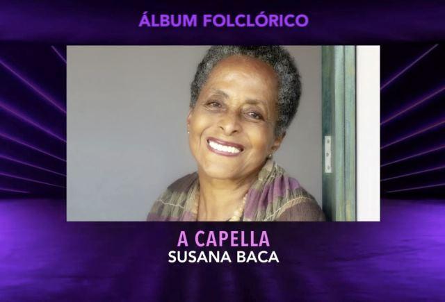 Ministerio de Cultura felicita a Susana Baca por triunfo en Grammy Latino 2020