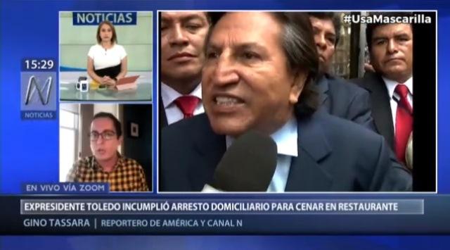 EE. UU.: Alejandro Toledo incumple condiciones de arresto domiciliario para cenar en restaurante