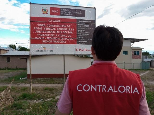 Contraloría advierte que obras valorizadas en aproximadamente 80 mil soles difieren de avances físicos, en Tomaque Bagua