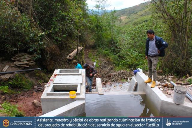 Sector Tuctilla contará nuevamente con el servicio básico de agua potable
