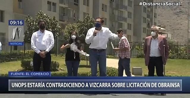 Unops contradice versión de Martín Vizcarra sobre la licitación de Obrainsa