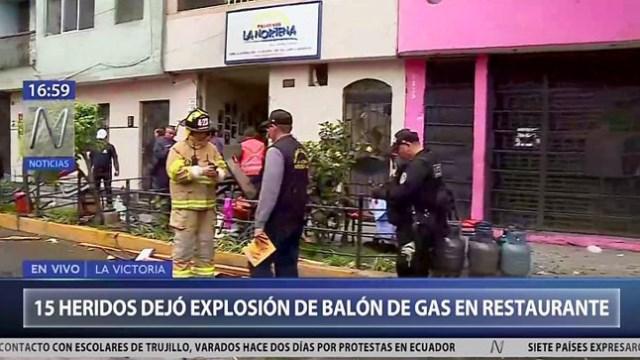 La Victoria: 19 heridos y un bebé muerto tras deflagración de balón de gas
