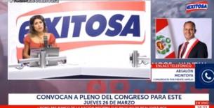 Congresista Absalón Montoya en entrevista en Exitosa insta a la población a ser responsable y acatar la emergencia sanitaria