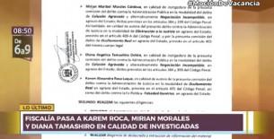 Caso Richard Swing: Fiscalía incluye como investigadas a Karem Roca y a Mirian Morales