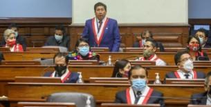 Partido Perú Libre invoca a su bancada a negar el voto de confianza a gabinete de Mirtha Vásquez