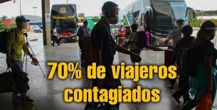 Más del 60% de personas que querían viajar dio positivo por covid en terminal terrestre de Atocongo