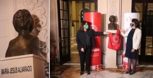 Jefa del gabinete ministerial reconoció legado de María Jesús Alvarado durante el acto de develación de busto de bronce en su honor en Palacio