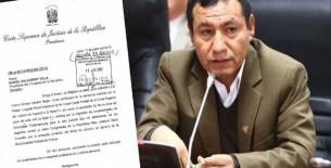 PJ solicitó al Congreso autorización para hacer efectiva condena de Joaquín Dipas