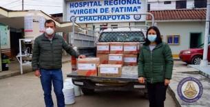 Hospital regional Virgen de Fátima entrega nueve mil frascos de Ivermectina a la municipalidad provincial de Luya-Lamud