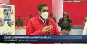 Ministro Jorge Chávez aclaró que no hay fecha establecida para inicio de la fase 4 de la reactivación económica