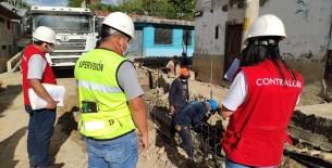Identifican deficiencias de construcción en obra de pistas y veredas en Huambo