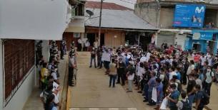 Protestan y exigen inicio de trabajos de obra de agua que se encuentra paralizada más de 10 meses  en Condorcanqui