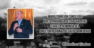 Pido la renuncia del Director regional de Salud Amazonas