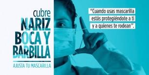 Gobierno lanza campaña que exhorta sobre correcto uso de la mascarilla para asegurar protección
