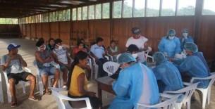 Inmunización contra el Covid 19 a pobladores indígenas en CC.NN. de Paantan es un éxito en Condorcanqui