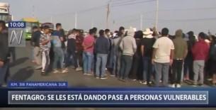Protestas en Ica: Fentagro asegura que se le está dando pase a niños y adultos mayores