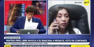 Kelly Portalatino: Disciplina de Perú Libre verá situación de Betssy Chávez y Dina Boluarte